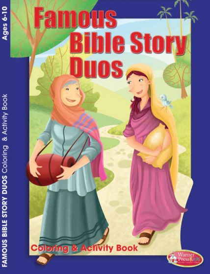 coloring activity book famous bible story duos warner press