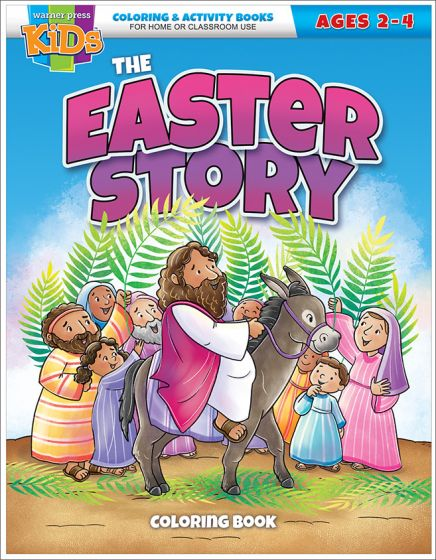 The Easter Story Coloring Book Ages 2 4 Warner Press