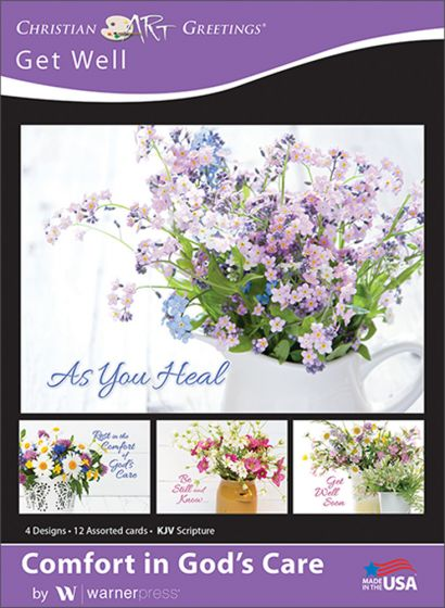 Boxed greeting cards get well comfort in gods care warner press help others find comfort in gods care with cheery blossoms and hopeful scriptures these get well cards will brighten any day m4hsunfo