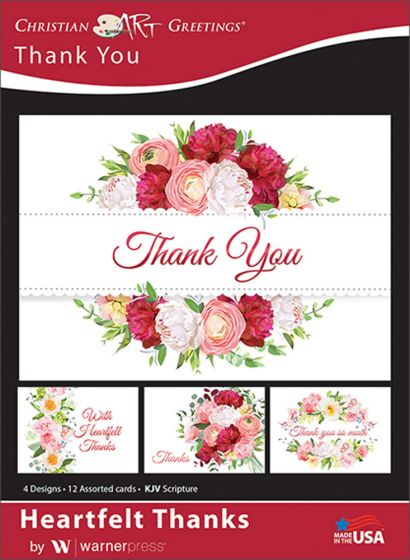 Boxed greeting cards thank you heartfelt thanks warner press show your gratitude with a beautiful thank you card with beautiful floral images and inspiring scripture each card will express your true appreciation m4hsunfo
