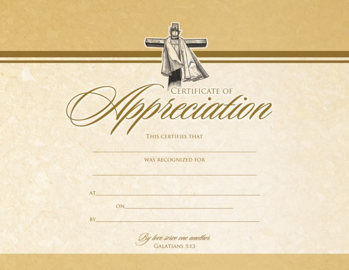 Appreciation certificate premium gold foil stamping warner press text certificate of appreciation this certifies that blank line was recognized for blank line at blank line on blank line by blank line by love yadclub Image collections