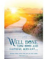 Funeral Bulletin - Well Done
