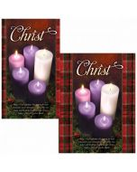 Advent Bulletin - Christ with candles  (multiple size options)