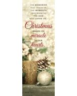 Christmas Bookmark, Pkg 25 - Christmas shines its miracle in our hearts