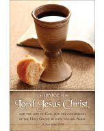 Communion Bulletin - The grace of the Lord Jesus