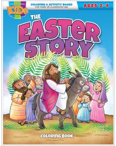 The Easter Story Coloring Book, ages 2-4