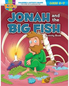 Coloring Activity Books | General | Jonah and the Big Fish (5-7)