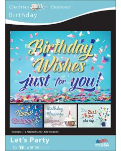 Boxed Greeting Cards - Birthday, Let's Party