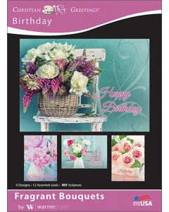 Boxed Greeting Cards - Birthday, Fragrant Bouquets