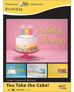 Boxed Greeting Cards - Birthday, You Take the Cake!