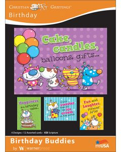 Boxed Greeting Cards - Birthday, Birthday Buddies