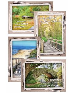 Boxed Greeting Cards - Birthday, Along God's Path
