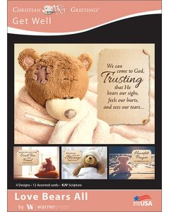 Boxed Greeting Cards - Get Well, Love Bears All