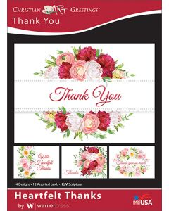 Boxed Greeting Cards - Thank You, Heartfelt Thanks