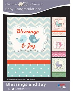 Boxed Greeting Cards - Baby Congratulations, Blessings and Joy