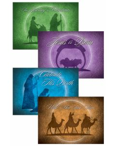 Christmas Boxed Greeting Cards - Assortment, Celebrate His Birth