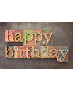 (pkg 25) Postcard - Happy Birthday