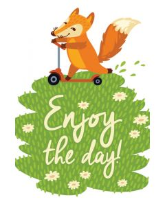Postcard / All Occasion, Enjoy the day!