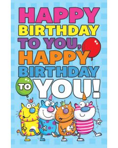 (pkg 25) Postcard - Happy Birthday to you ...