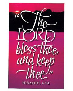 Postcard - All Occasion, The Lord bless thee and keep thee