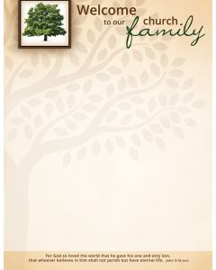 Letterhead - Welcome to the Church Family