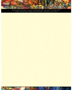 General Letterhead - For I konw the plans I have for you