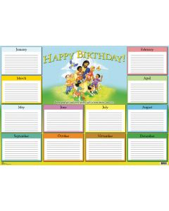 Wall Charts / Large Format Kid's Birthday Chart