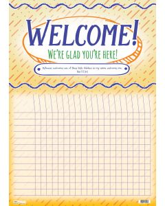 Wall Chart | Welcome! We're Glad You're Here!