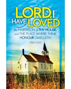 Anniversary Bulletin - Lord I have Loved