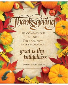 Thanksgiving Bulletin / Great is thy faithfulness, Legal