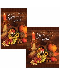 Thanksgiving Bulletin - Everything God Created is good  (multiple size options)