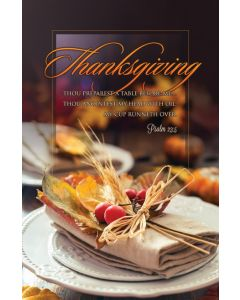 Bulletin | Thanksgiving  | Thou preparest a table before me….