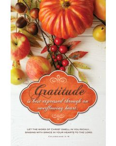 Bulletin | Thanksgiving  | Gratitude is best expressed through an overflowing heart.