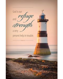 Funeral Bulletin - Refuge and Strength, Ps 46:1