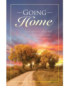Funeral Bulletin - Going Home