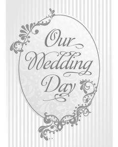 Marriage Certificate / 5x7 folded, Premium, Silver Foil embossed