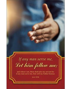 Usher Bulletin - If any man serve me…