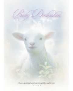 Baby Dedication Certificate - 5x7 folded, Premium, Full Color
