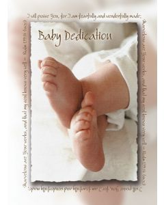 Baby Dedication Certifcate - 5x7 folded, Premium, Full Color