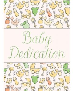 Baby Dedication Certifcate / 5x7 folded, Premium stock