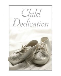 Baby Dedication Certificate - 5x7 folded, Full Color