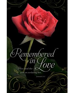 Funeral Bulletin - Remembered in Love