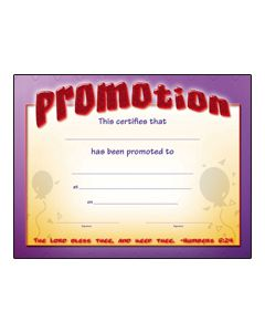 Promotion / Certificate