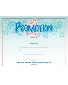 Promotion Certificate /