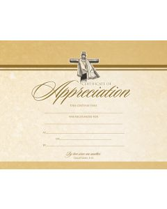 Appreciation Certificate / Premium, Gold Foil-Stamping