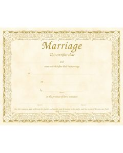 Marriage Certificate / Parchment