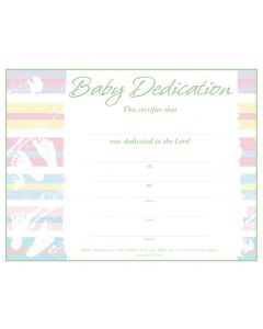 Baby Dedication Certificate / Premium, Green Foil Embossed