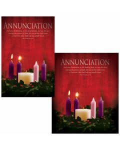 Advent Bulletin - Annunciation (multiple size options)