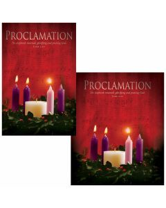 Advent Bulletin - Proclamation (multiple size options)