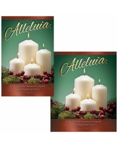 Christmas Bulletin / Alleluia (Multiple Sizes)